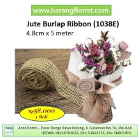 Jute Burlap Ribbon (1038E), Pita Goni, Aksesoris toko bunga