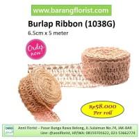 Burlap Ribbon (1038G), Pita goni, Aksesoris toko bunga