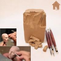 Tanah Liat Untuk Modeling / Sculpting - Stoneware G1000, 1kg.