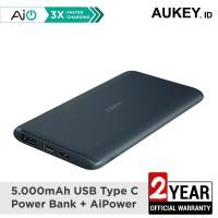 Aukey Powerbank PB-XN5 BL 5000mAh 5V 3A Ultra Portable USB-C - 500433
