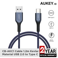 Aukey Cable USB A To USB C QC 2.0 Kevlar Cable 1.2M Blue - 500413
