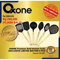 OXONE Premium OX-957 GOLD KITCHEN TOOLS / SPATULA 6 pcs LIMITED OX957