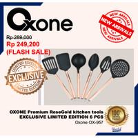 OXONE OX-957 ROSE GOLD KITCHEN TOOLS / SPATULA 6 pcs LIMITED OX957