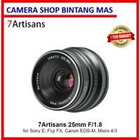 7Artisans 25mm F/1.8 (Sony E, Fuji FX, Canon EOS-M, Micro 4/3)