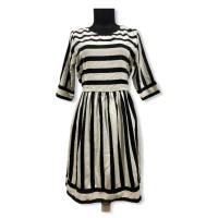 Black n White Cute Midi Dress