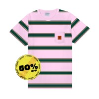 Public Culture - Sunburn Striped Tee - Soft Pink