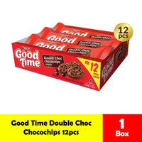 Good Time Biskuit Double Choco / Rainbpw Chococips Box isi 12pcs