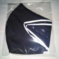 Masker kain warna polos 3 lapis + bisa diisi tisu (Bikin Sendiri)