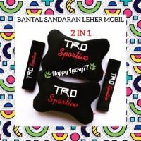 BANTAL SANDARAN LEHER MOBIL (2 IN 1) TRD SPORTIVO TOYOTA RACING