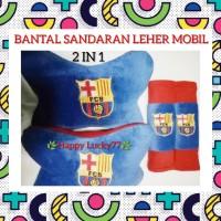 BANTAL SANDARAN LEHER MOBIL (2 IN 1) BARCA
