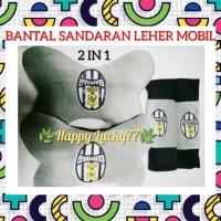 BANTAL SANDARAN LEHER MOBIL (2 IN 1) JUVENTUS