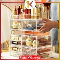 SK-K12 Kotak Make Up + 3 Laci Acrylic Rak Kosmetik Organizer