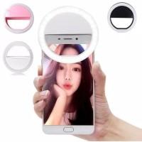 Ring Selfie LED Lampu Selfie Bulat Untuk Kamera HP Selfie Ring Light