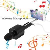 Mic Karaoke D01 Nirkabel Bluetooth Mikrofon Karaoke Speaker Selfie