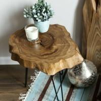 meja kayu solid /side table /kopi / meja samping /resto /cafe /hotel
