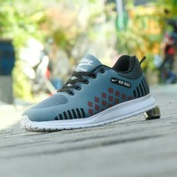 Sepatu Sport Olahraga Nike Airmax Zoom - Grade Ori - Abu Abu AZ 02