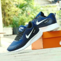 Sepatu Sport Casual Nike Airmax Zoom GRADE ORI - Biru Navy - Olahraga