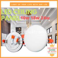 LAMPU PANEL DOWNLIGHT/ LED PANEL DOWN LIGHT/ PANEL BULAT 10W 18W 24W - 10W - 3.34inci, WARM WHITE