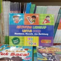 buku anak AKTIVITAS LENGKAP UNTUK PAUD membaca menulis dan berhitung