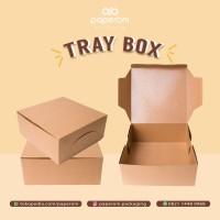 Kotak Makan Bahan Kertas ECO Kraft ukuran besar/Paper Food Packaging