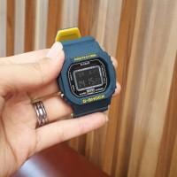 Jam Tangan Pria /Wanita Casio G-Shock Two Color Biru Kuning - Biru Kuning