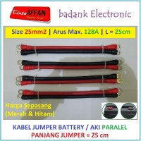 Kabel Jumper Battery PARALEL Size 25 mm2 L = 25 cm Panel Surya Aki