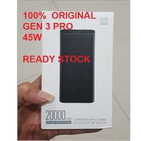 Xiaomi Power Bank Mi 3 Pro 20000mAh 45W Type C Fast Mi3 Original