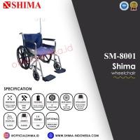 Shima Wheelchair + Infusion Stand / Kursi Roda Shima + Tiang Infus