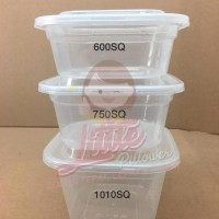 Lunch Box Thinwall Square 750ml/ Kotak Makan Plastik