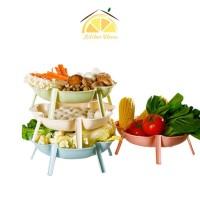 L House - Piring Sayur Buah Bahan Shabu Shabu Alat Dapur Kreatif - Hijau