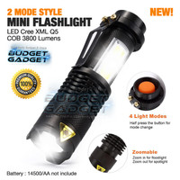 Senter LED Torch Multifungsi Cree XML Q5 + COB 3800 Lumens