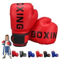 1 Pair PU Leather Children Boxing Gloves Kids Karate