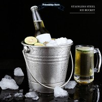 ◆FS Large Bucket Stainless Steel Champagne Beers Bucket Wine