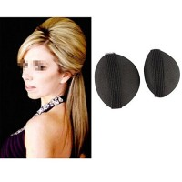 Ewanda store 2pcs Black Bump It Up Volume Hair Base Styling Insert Too