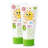 Babyganics Sunscreen Lotion 50 SPF, 6oz, 2 Pack, Packaging May Vary
