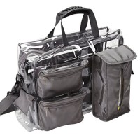 Seya Ultimate Makeup Artist Clear Set Bag with Removable Pouches (Grey