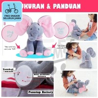 Boneka Elephant Peek A Boo Music Mainan Gajah CilukBa Bernyanyi Joget