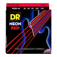 Senar Bass DR Strings, K3 Neon Hi-Def Red Bass, NRB5-45 (45-125)