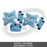 BANTAL JOK MOBIL DORAEMON 9 PCS