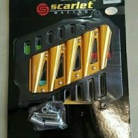 Cover Radiator Nmax Scarlet CNC Cover Radiator Aerox Scarlet CNC