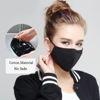 promo Masker Motor kain 3 lapis Tali Ikat Busa Tebal 3 Ply 3Ply Bisa