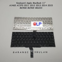 "Keyboard Apple Macbook Air 11"" A1465 A1370 2011 - 2015 - Black"