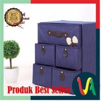 Perlengkapan rumah /Kotak Serbaguna 5 Laci /NAVY BLUE (Kotak utk
