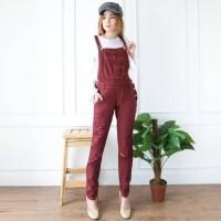 New Sale Zarra Jumpsuit Army Ripped Bahan Jeans/ Grosir Jumpsuit