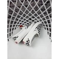 Sepatu Pria Vans Slip On Checkboard Black White OG Premium Original