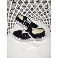 Sepatu Pria Vans Authentic Black White Premium Original