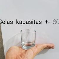 Gelas Sloki 80ml. Shotter Glass 80ml untuk kopi. Gelas Sloki kaca