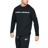 Sweater UA Mens Move Light Graphic Crew Neck Original-Hitam