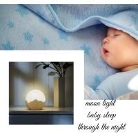 lampu tidur lampu bulan lampu unik lampu kamar lampu meja lampu malam