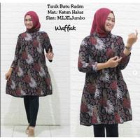 tunik batik bahan katun motif terbaru baju muslim terbaru